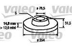 Tarcza hamulcowa VALEO  186168 (Oś przednia)