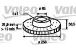 Tarcza hamulcowa VALEO 186603 (Oś przednia)