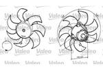 Wentylator chłodnicy silnika VALEO 696049 VALEO 696049