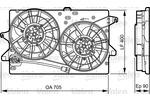 Silnik elektryczny wentylatora chłodnicy VALEO 696362