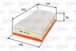 Filtr powietrza VALEO  585156