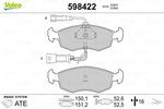 Klocki hamulcowe - komplet VALEO  598422 (Oś przednia)-Foto 2