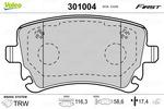 Klocki hamulcowe - komplet VALEO  301004 (Oś tylna)
