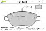 Klocki hamulcowe - komplet VALEO  301721 (Oś przednia)