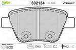Klocki hamulcowe - komplet VALEO  302134 (Oś tylna)