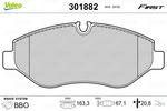 Klocki hamulcowe - komplet VALEO  301882 (Oś przednia)