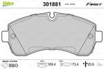 Klocki hamulcowe - komplet VALEO 301881 VALEO 301881