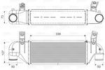 Chłodnica powietrza doładowującego - intercooler VALEO 817888 VALEO 817888