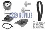 Zestaw paska rozrządu + pompa wody RUVILLE 55581701