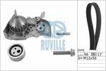 Zestaw paska rozrządu + pompa wody RUVILLE  55622701