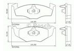 Klocki hamulcowe - komplet BOSCH 0 986 BB0 705 BOSCH 0986BB0705