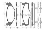 Klocki hamulcowe - komplet BOSCH 0 986 TB2 091 BOSCH 0986TB2091