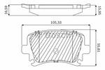 Klocki hamulcowe - komplet BOSCH F03B050144