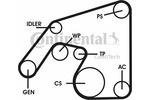 Zestaw paska klinowego wielorowkowego CONTITECH  6PK2271D2