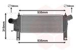 Chłodnica powietrza doładowującego - intercooler VAN WEZEL 13004339 VAN WEZEL 13004339