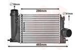 Chłodnica powietrza doładowującego - intercooler VAN WEZEL 13014703 VAN WEZEL 13014703