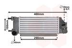 Chłodnica powietrza doładowującego - intercooler VAN WEZEL 17014711 VAN WEZEL 17014711