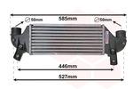 Chłodnica powietrza doładowującego - intercooler VAN WEZEL 18004313 VAN WEZEL 18004313