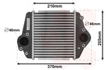 Chłodnica powietrza doładowującego - intercooler VAN WEZEL 27004275 VAN WEZEL 27004275