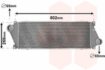 Chłodnica powietrza doładowującego - intercooler VAN WEZEL 30004217 VAN WEZEL 30004217