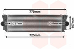 Chłodnica powietrza doładowującego - intercooler VAN WEZEL 30004396 VAN WEZEL 30004396