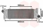 Chłodnica powietrza doładowującego - intercooler VAN WEZEL 30004448 VAN WEZEL 30004448
