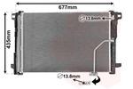 Chłodnica klimatyzacji - skraplacz VAN WEZEL 30005450 VAN WEZEL 30005450