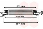 Chłodnica powietrza doładowującego - intercooler VAN WEZEL 37004420 VAN WEZEL 37004420