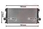Chłodnica powietrza doładowującego - intercooler VAN WEZEL  37004550