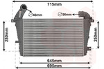 Chłodnica powietrza doładowującego - intercooler VAN WEZEL 37004585 VAN WEZEL 37004585