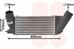 Chłodnica powietrza doładowującego - intercooler VAN WEZEL 40004347 VAN WEZEL 40004347