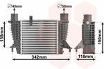 Chłodnica powietrza doładowującego - intercooler VAN WEZEL 43004338 VAN WEZEL 43004338