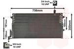 Chłodnica klimatyzacji - skraplacz VAN WEZEL 58005161