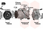 Kompresor klimatyzacji VAN WEZEL  5800K240
