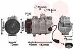 Kompresor klimatyzacji VAN WEZEL 7400K074 VAN WEZEL 7400K074