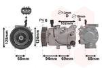 Kompresor klimatyzacji VAN WEZEL 8200K442 VAN WEZEL 8200K442