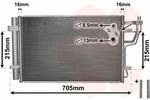 Chłodnica klimatyzacji - skraplacz VAN WEZEL 83005102 VAN WEZEL 83005102