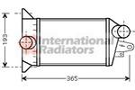 Chłodnica powietrza doładowującego - intercooler VAN WEZEL 18004354 VAN WEZEL 18004354