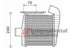 Chłodnica powietrza doładowującego - intercooler VAN WEZEL 82004231 VAN WEZEL 82004231