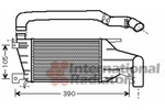 Chłodnica powietrza doładowującego - intercooler VAN WEZEL 37004417 VAN WEZEL 37004417