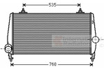 Chłodnica powietrza doładowującego - intercooler VAN WEZEL 40004354 VAN WEZEL 40004354