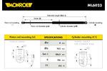 Sprężyna gazowa pokrywy bagażnika MONROE ML6023 MONROE ML6023