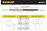 Sprężyna gazowa pokrywy komory silnika MONROE ML6310 MONROE ML6310