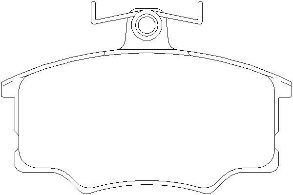 Klocki hamulcowe - komplet TEXTAR (2057402)