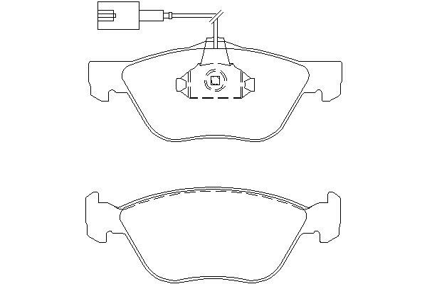 Klocki hamulcowe - komplet TEXTAR (2328902)