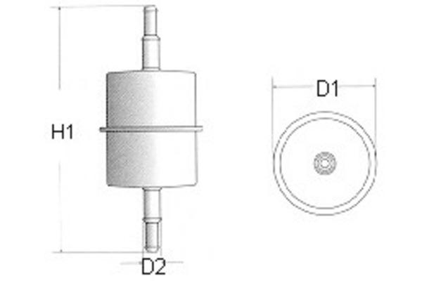 Filtr paliwa CHAMPION (Cardboard box) (L106/606)