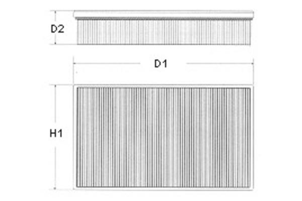 Filtr powietrza CHAMPION (Cardboard box) (U562/606)