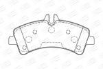 Klocki hamulcowe - komplet CHAMPION  573728CH (Oś tylna)-Foto 2