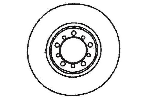 Tarcza hamulcowa JURID (561283J)
