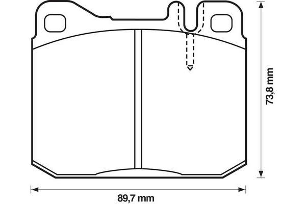 Klocki hamulcowe - komplet JURID (571278D)